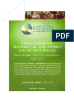 Public and Private Policy Recommendation Democratization in Latin