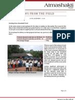 Atmashakti Trust - Progress Report December 2010