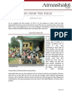 Atmashakti Trust - Progress Report July 2011