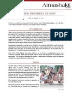Atmashakti Trust - Progress Report October 2009