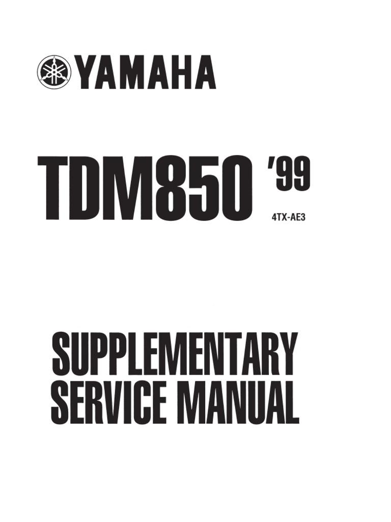 Yamaha Tdm 850 1999 Manual de Reparatie Www
