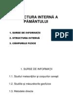 01. Introduce Re in Geologie - Pre Zen Tare 01 - Structura Interna a Pamantului