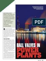 Ball Valves in Power Plant