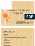 Organisational Climate