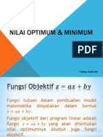 Nilai Optimum & Minimum