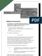 Algebraic Expressions (2)