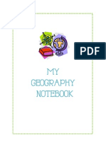 Geography Notebook