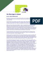 Khalid Chraibi - 'Misyar' Marriage | Fatwa | Wife
