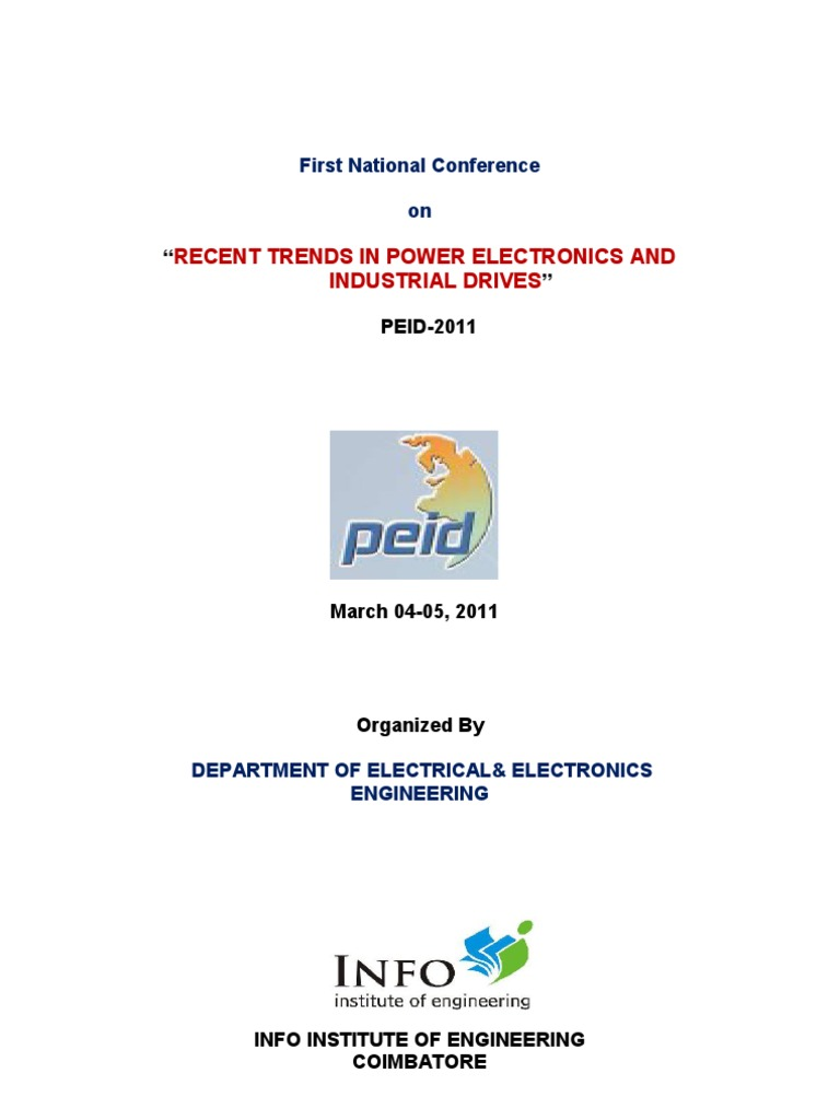 First National Conference On Recent Trends In Power Electronics And 138 Volt 20 A Transformerless Supply Circuit Diagram Industrial Drives Peid 2011 Inverter Direct Current