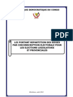 Loi portant répartition des sièges