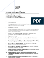 Agenda of 24 January 2012