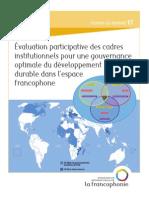 Évaluation participative des cadres institutionnels pour une gouvernance optimale du développement durable dans l es