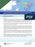 Resume _Évaluation participative des cadres institutionnels pour une gouvernance optimale du développement durable d