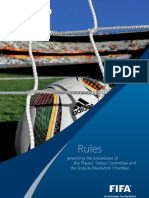 FIFA - Rules Governing the Procedures of the Players' Status Committee and the Dispute Resolution Chamber