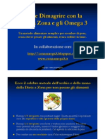 Come Dimagrire Con La Dieta a Zona e Gli Omega 3