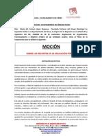 Moción de IU Férez sobre recortes en Educación Pública. Aprobada Octubre 2011