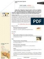 Agenda Bretagne Japon2012