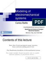 Modeling of Electromechanical Systems