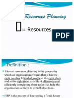 Human Resource Planning Ppt.