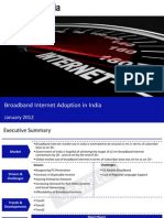 Market Research Report :Broadband Internet Adoption in India 2012
