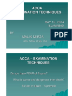 How to Pass Exams Presentation Made at Acca Event