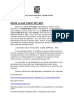 ACTIVIDADES PARA LA CELEBRACION DEL DÍA DE LA PAZ 2011_2012