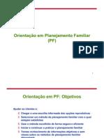 Orientação em Planejamento Familiar