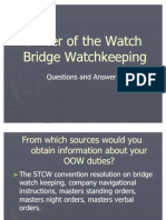 Bridge Watch Keeping Questions