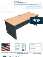 Enclosed Computer Desk (CD Series) Assembly Instructions