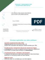 20111020 Journées création - fin. nat PF - publication