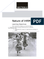 Nature of IHRM