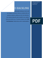 How to Backlink - Add to Website to Directories