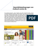 Allgemeine Geschäftsbedingungen von schulbuch-center.de