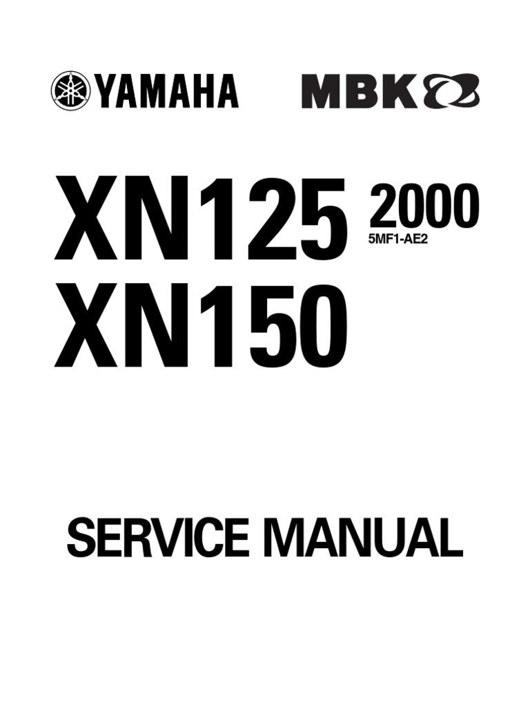 7585102-Yamaha Teos Xn125 Xn150 Workshop Repair Manual
