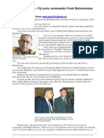 Frankly Speaking ^ Fiji Army Commander Frank Bainimarama Speaks Out - Robert Keith Reid - Pacific Islands Monthly