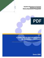 Clasificador Presupuestario de Recursos y Egresos