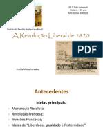 A Revolucao Liberal de 1820