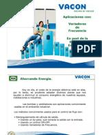 Aplicaciones Con Variadores de Frecuencia En Post de La Eficiencia Energetic A