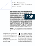 Adhesion and Activation of Platelets And