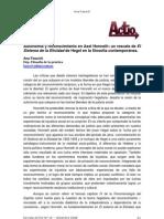 Autonomia y Reconocimiento en Axel Honneth