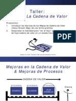 cadena de valor diseño actual y futuro VSM