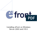 Installing eFront on Windows Server 2003 and IIS 6_1