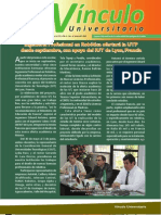 Vìnculo Universitario No. 6 - Junio 2011