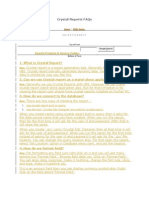Crystal Reports FAQs