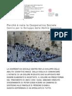 Nascita Della Cooperativa Sociale CSDAC