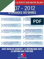 Sarkozy 2012, le tract de l'UMP