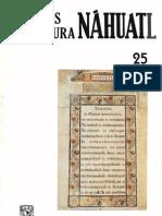 Estudios de Cultura Nahuatl No 25 - 1995 - Portada