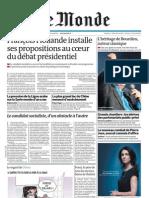 Le Monde et Supplément Économie du 24 Janvier 2012