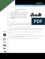 Sony DAV HDX285 Specs