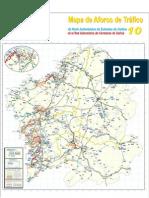 Mapa de Aforos de Tráfico 2010 - Galicia